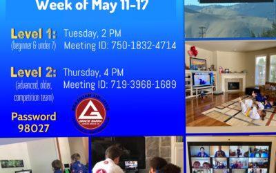 This weeks zoom schedule