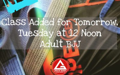 Tomorrow: Adult class added