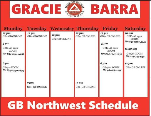 GB Virtual Schedule