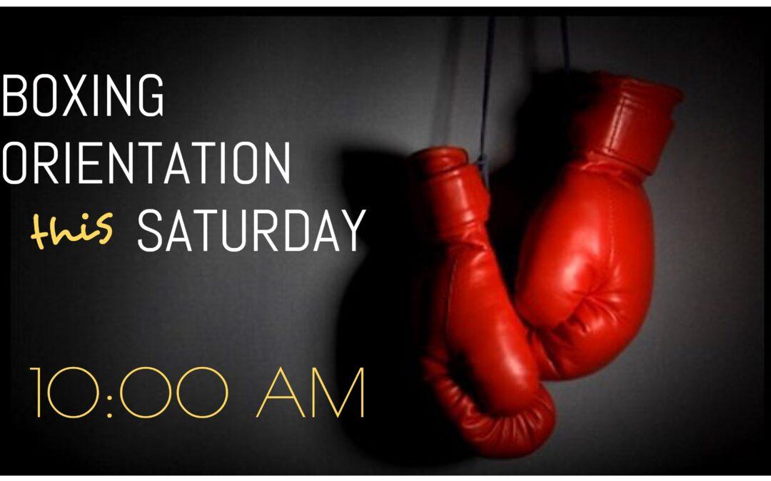 Boxing orientation 10/10