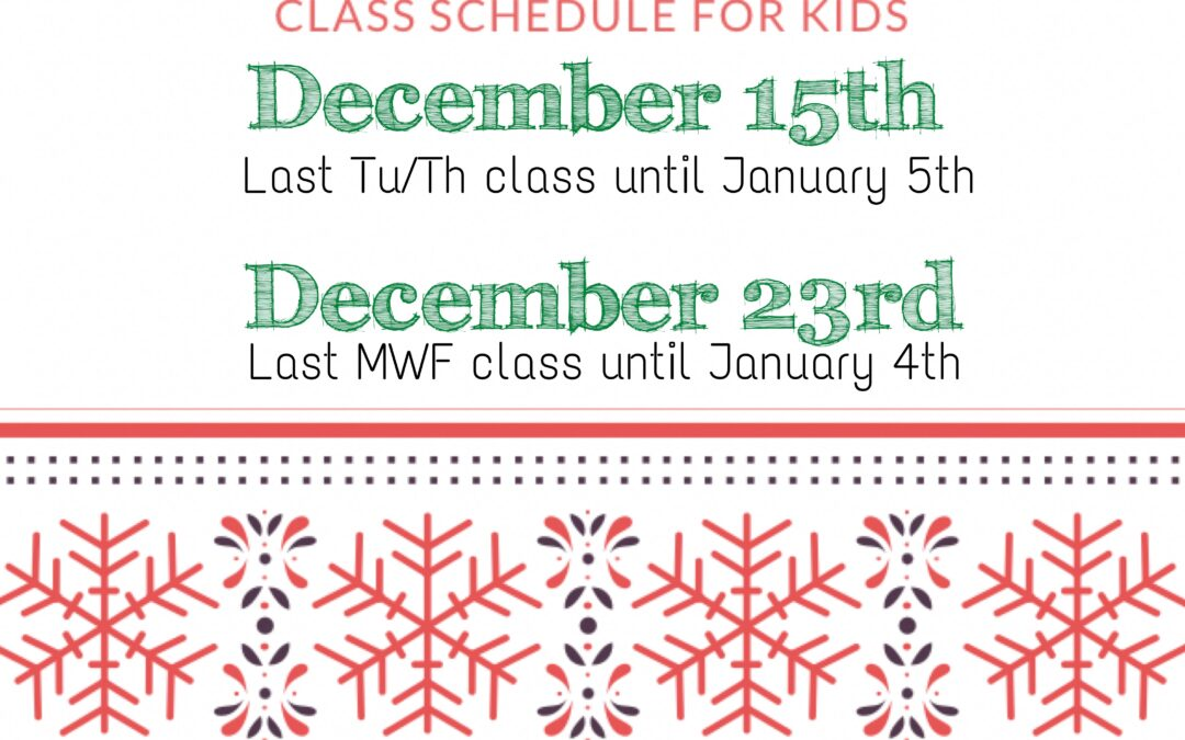 Holiday Zoom Schedule for Kids