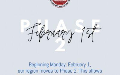 Phase 2 begins Monday, February 1st!