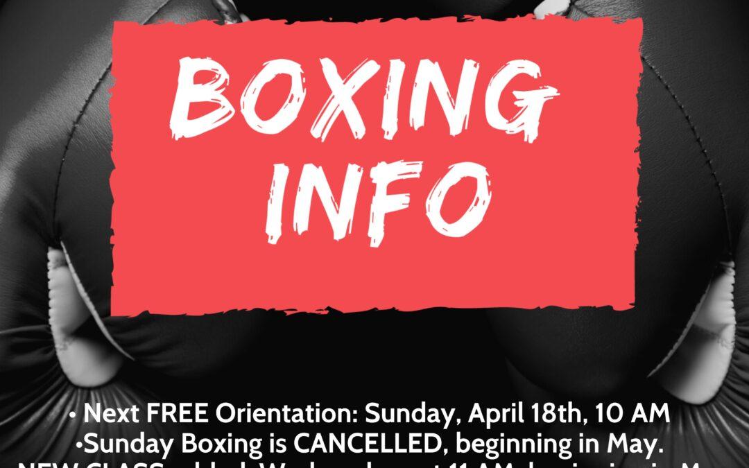 Boxing/kickboxing updates