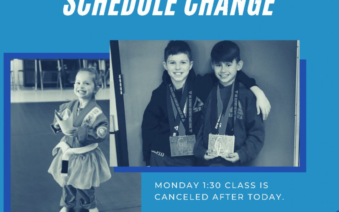 Schedule Change for the Kids' Team