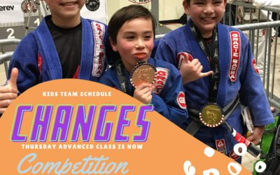 Changes to the kids' team schedule