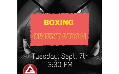Next Boxing Orientation